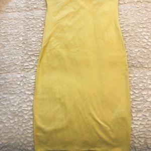 Forever 21 Dresses - YELLOW TUBE TOP SUMMER DRESS